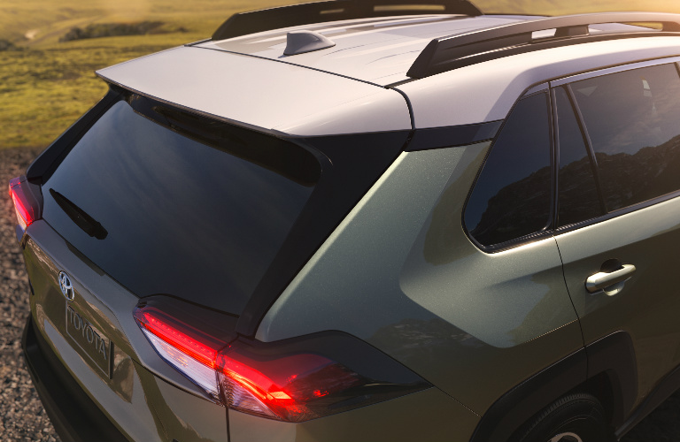 2019 Toyota RAV4 rear exterior and roof rails