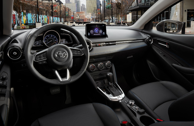 2019 Toyota Yaris Sedan steering wheel and dashboard