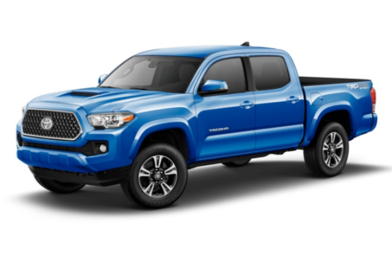 2018 Toyota Tacoma in Blazing Blue Pearl