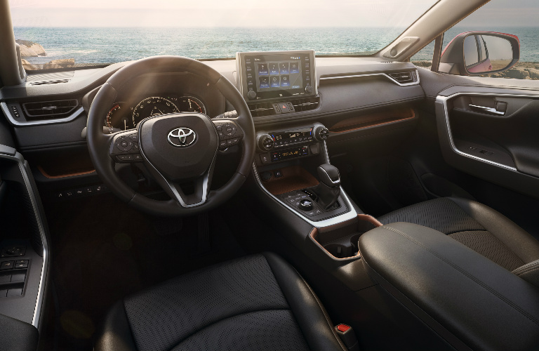 2019 Toyota RAV4 front interior overview