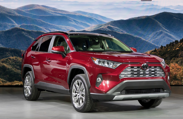 2019 Toyota RAV4 on stage at the New York Auto Show