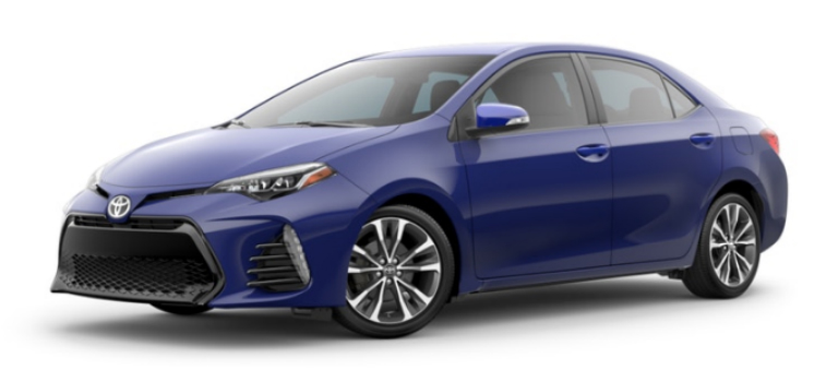 2019 Toyota Corolla in Blue Crush Metallic