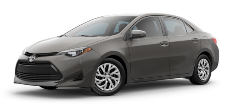 2019 Toyota Corolla in Falcon Gray Metallic