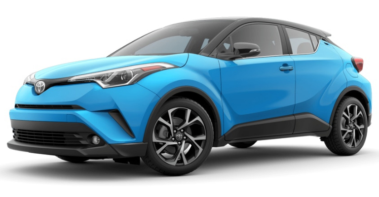 2019 Toyota C-HR in Blue Flame R-Code Black