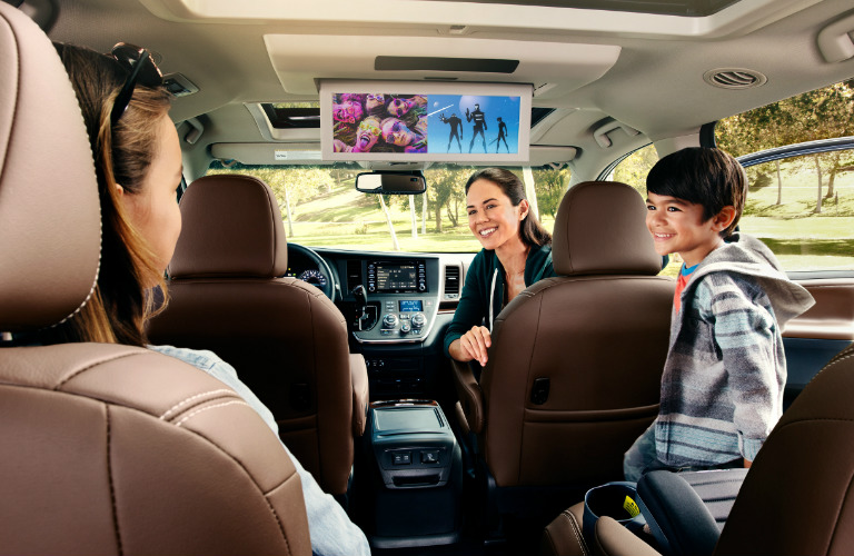 2019 Toyota Sienna rear seat entertainment system