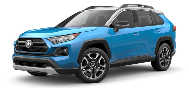 2019 Toyota RAV4 in Blue Flame Ice Edge Roof