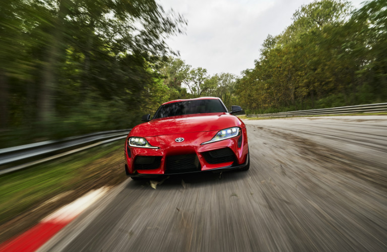 2020 Toyota Supra front fascia and headlights