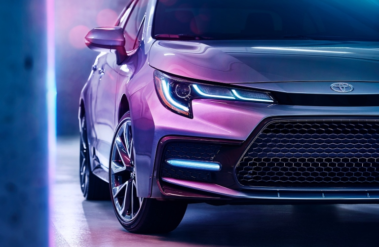 2020 Toyota Corolla front grille and headlights