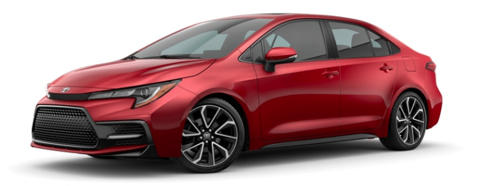2020 Toyota Corolla in Barcelona Red Metallic