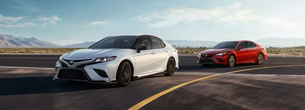 2020 Toyota Camry cars on road