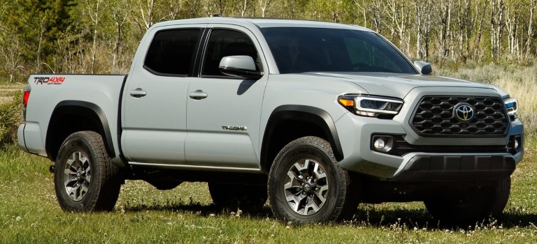 2020 Toyota Tacoma silver side view