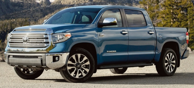 2020 Toyota Tundra blue side view