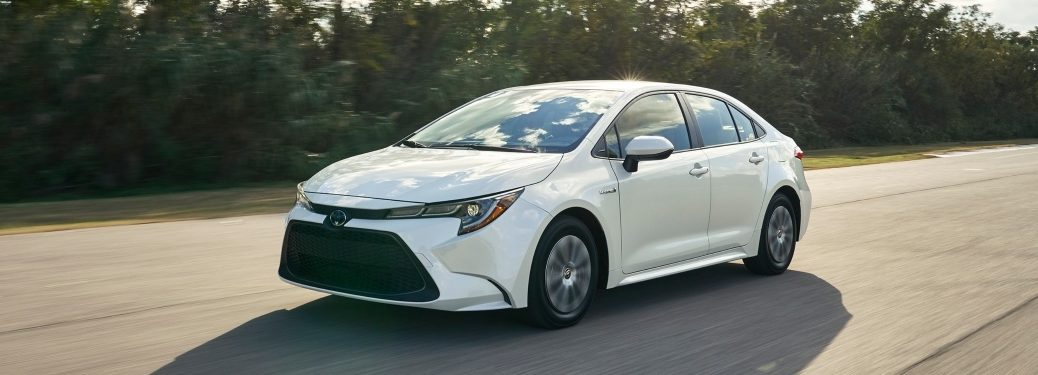 2020 Toyota Corolla cruising down the street