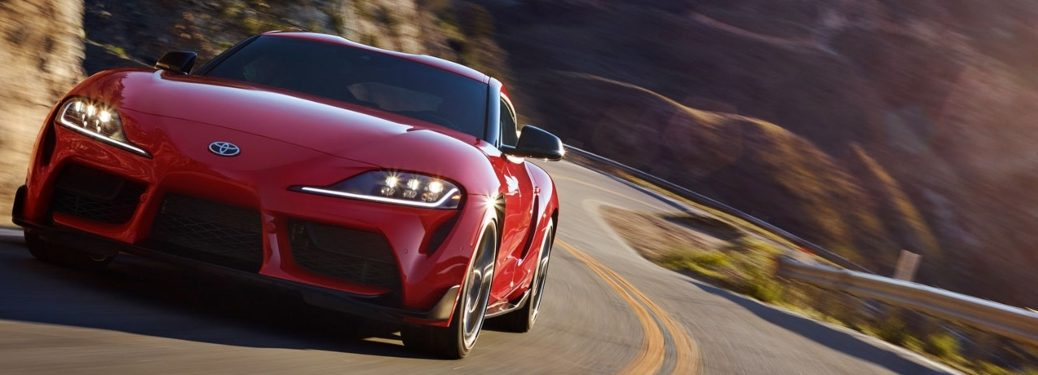 2020 Toyota Supra cruising down the open roads