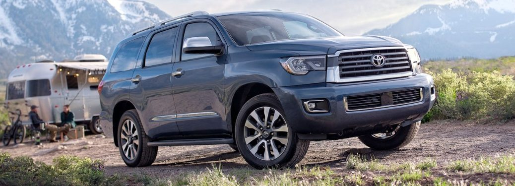 2020 Toyota Sequoia with campsite in background