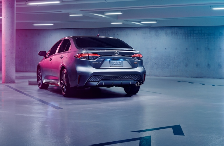 Back end of the 2020 Toyota Corolla