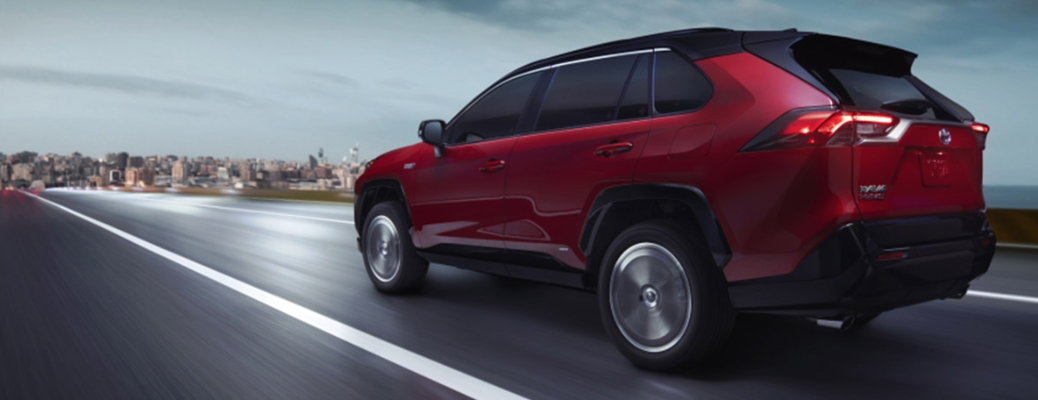 2021 Toyota RAV4 Prime going down the road