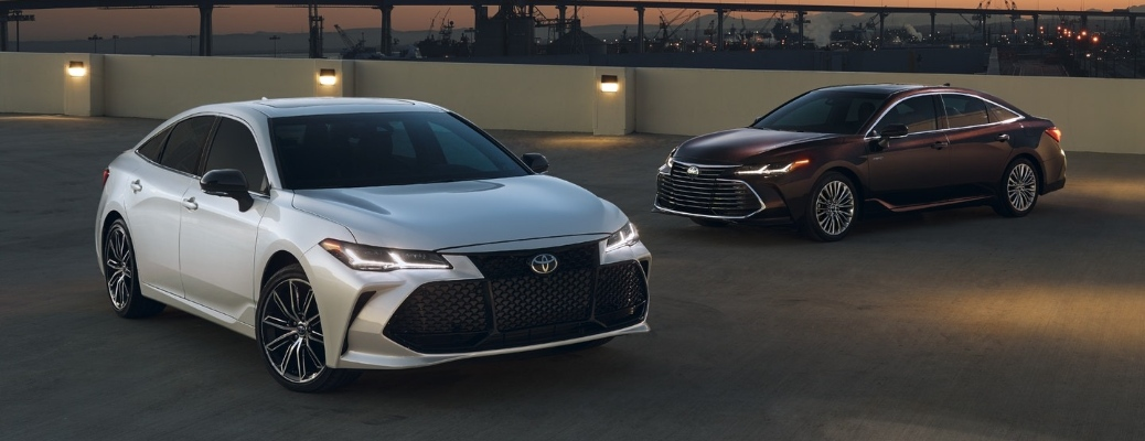 Two 2020 Toyota Avalon sedans parked by each other