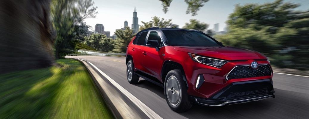 2021 Toyota RAV4 Prime cruising down the road