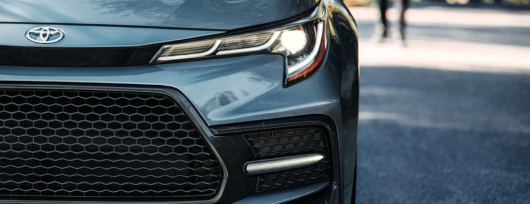 Front grille of the 2021 Toyota Corolla