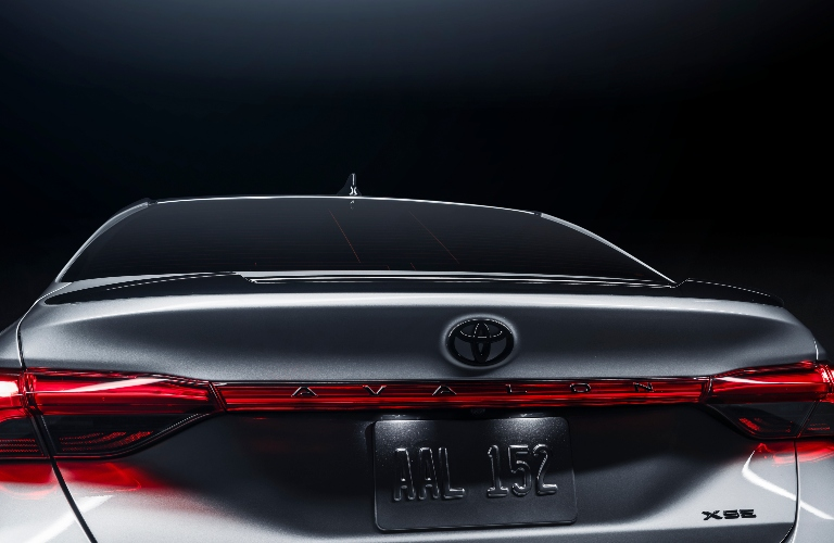 2021 Toyota Avalon XSE Nightshade Edition close up of the trunk