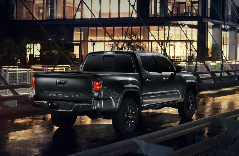 2021 Toyota Tacoma Nightshade Edition going down the road