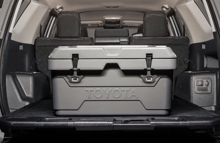 2021 Toyota 4Runner Trail Edition with a cooler in the back
