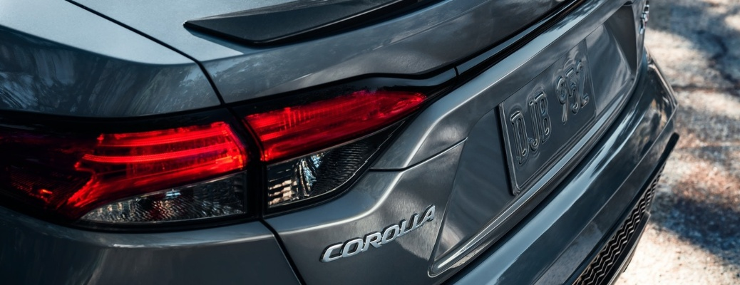 2021 Toyota Corolla back end