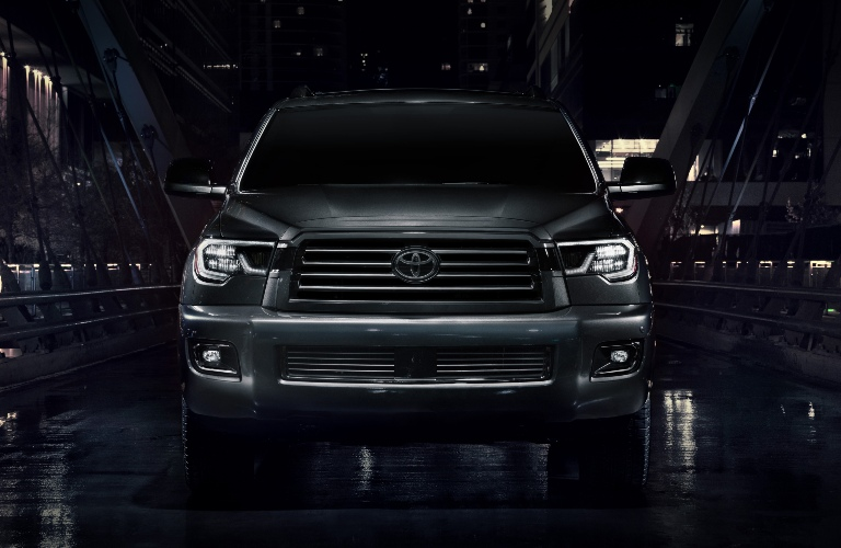 Front end of the 2021 Toyota Sequoia Nightshade Edition