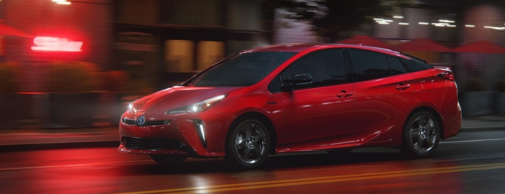 2021 Toyota Prius cruising down the road