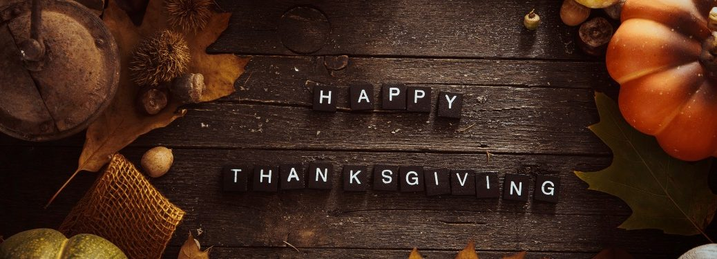 Happy Thanksgiving with fall background