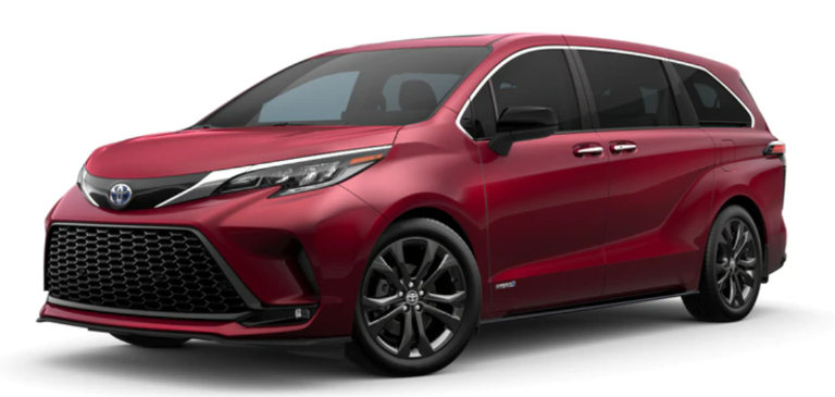 2021 Toyota Sienna Ruby Flare Pearl