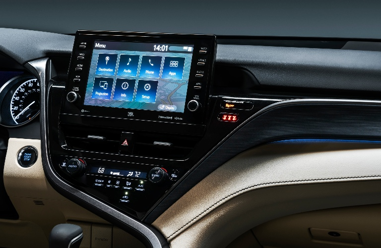 2021 Toyota Camry touchscreen and dashboard
