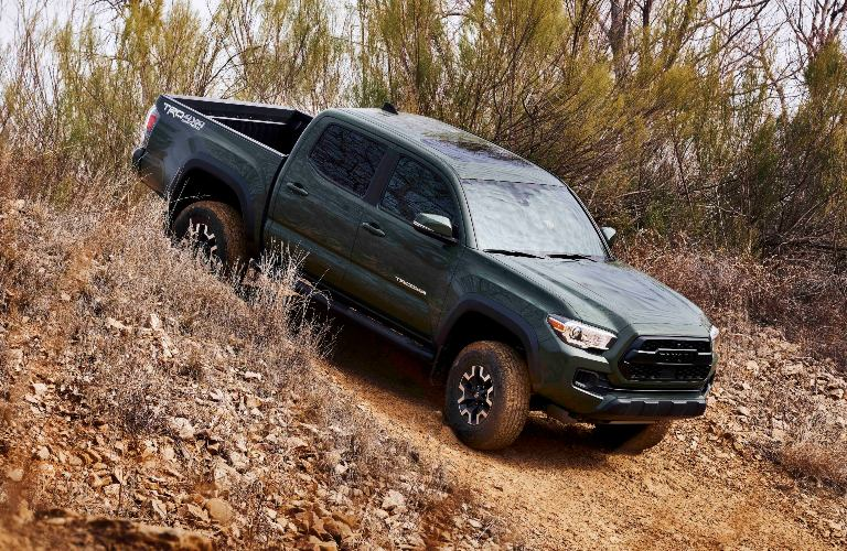 Toyota Tacoma going down a hill