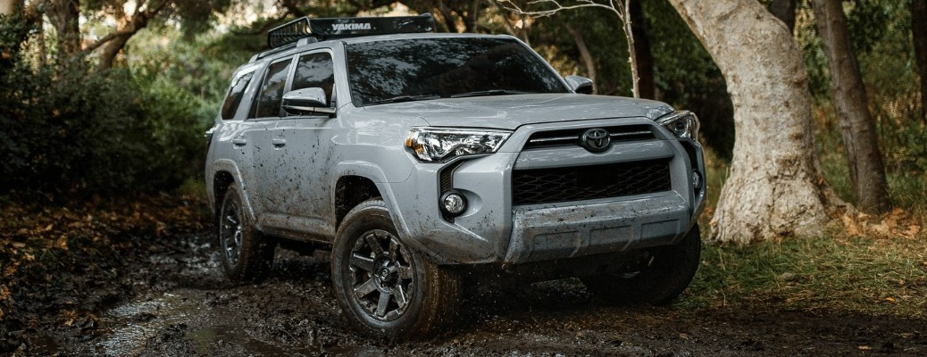2021 Toyota 4Runner going through the dirt