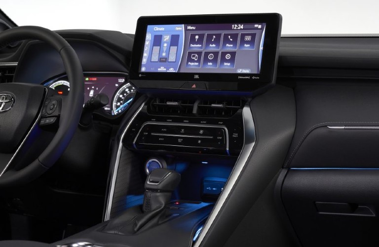 2021 Toyota Venza interior with touchscreen
