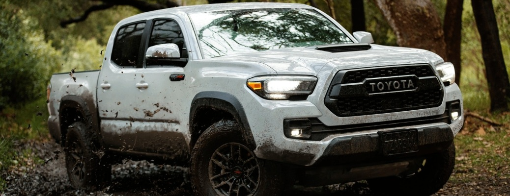 2021 Toyota Tacoma in the mud