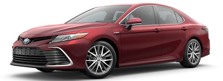 2021 Toyota Camry Hybrid Ruby Flare Pearl