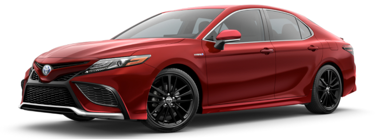 2021 Toyota Camry Hybrid Supersonic Red