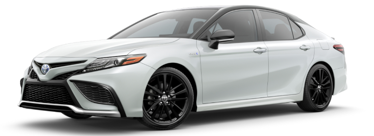2021 Toyota Camry Hybrid Wind Chill Pearl with Midnight Black Metallic