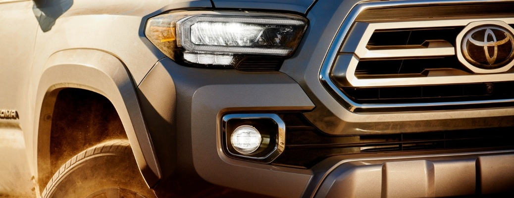 2021 Toyota Tacoma close up of front end