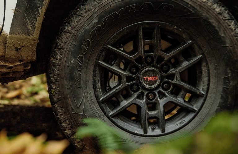 2021 Toyota Tacoma with TRD on tire