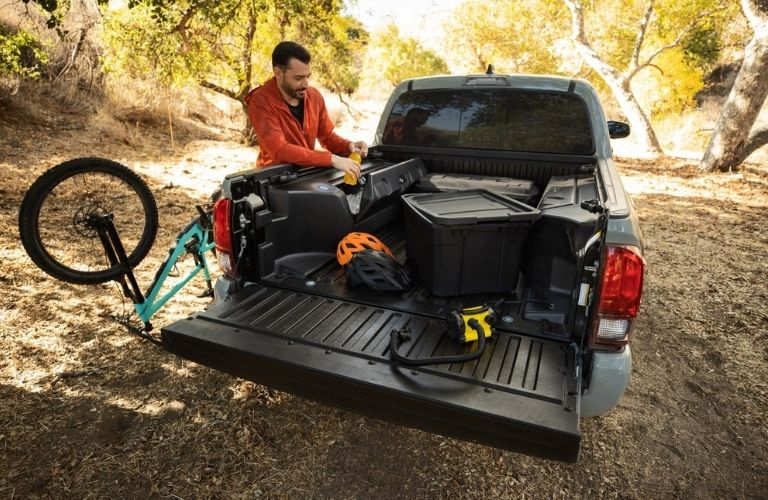 cargo space of the 2022 Tacoma Trail Edition