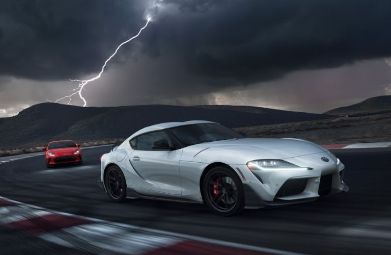 one 2022 GR Supra A91-CF Edition chasing another one
