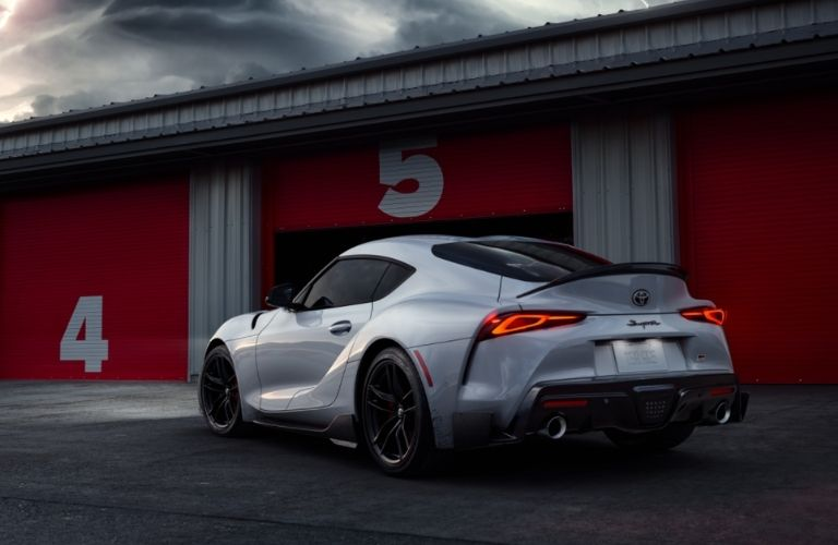 rear quarter view of the 2022 GR Supra A91-CF Edition