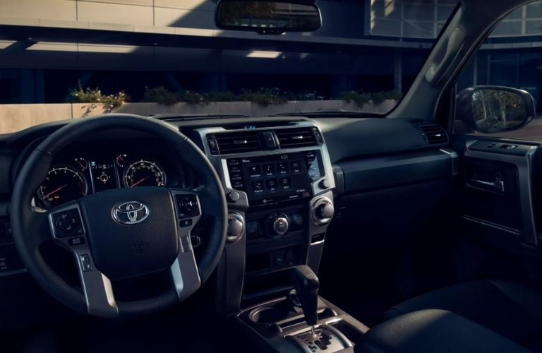 dashboard view of the 2022 Toyota