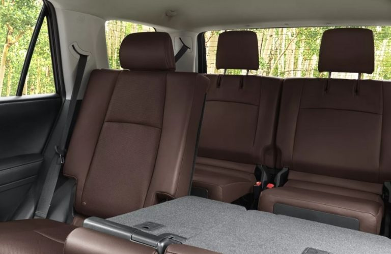 rear seat view of the 2022 Toyota 4Runner