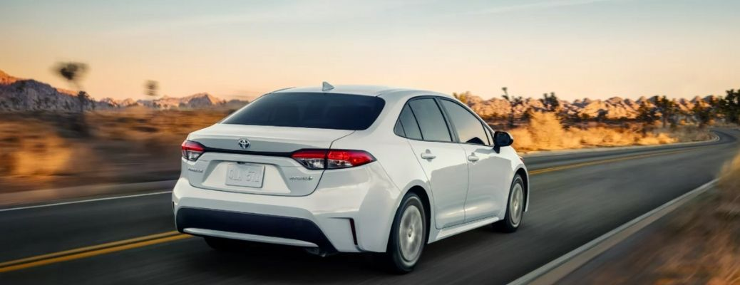 rear quarter view of the 2022 Toyota Corolla