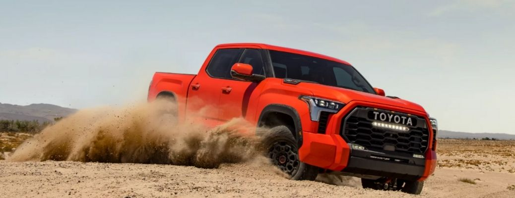 front quarter view of the 2022 Toyota Tundra off-roading