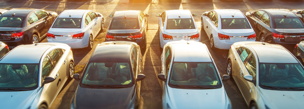 Cars parked on the lot together